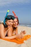 Divertimento sulla vacanza della spiaggia di estate Fotografie Stock Libere da Diritti