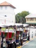Divertimento TAILANDESE dell'aria aperta delle tre-ruote tradizionali e taxi di urbano ben noto e di BANGKOK Immagini Stock Libere da Diritti