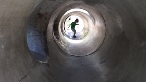 divertimento in tunnel Immagine Stock