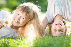 Divertiresi dei bambini Fotografie Stock