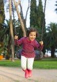 Divertiresi di tre anni felice della ragazza Fotografie Stock Libere da Diritti