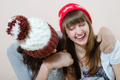 Divertirse: Ella es mi mejor amigo que puedo confiar en Foto de archivo libre de regalías