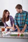 Divertirse en la cocina Imagen de archivo
