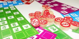 Divertissement de jeu de jeu de Tombala de bingo-test de loto Images stock