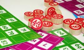 Divertissement de jeu de jeu de Tombala de bingo-test de loto Photos libres de droits