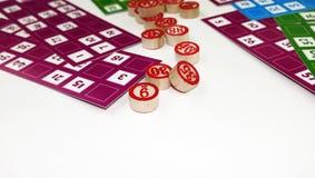 Divertissement de jeu de jeu de Tombala de bingo-test de loto Photo stock