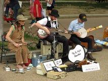 Divertissement de musique à la protestation photographie stock