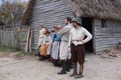 Divertissement de plantation de Plymouth Images libres de droits