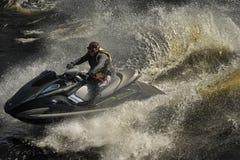 Dives Man on jet-ski Stock Photo