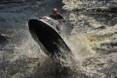 Dives Man on jet-ski Stock Photos
