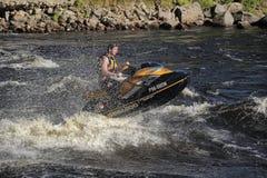 Dives Man on jet-ski Stock Photography