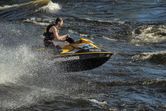 Dives Man on jet-ski Royalty Free Stock Photo