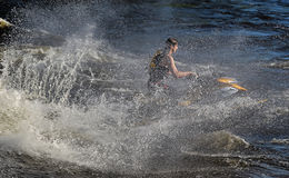 Dives Man on jet-ski Stock Photos