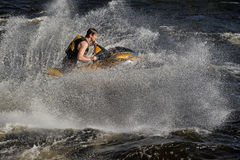 Dives Man on jet-ski Royalty Free Stock Photos
