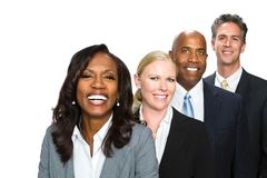 Divese group of business people. Royalty Free Stock Photos
