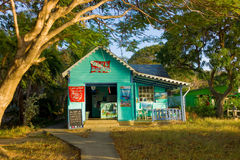A diveshop in the caribbean stock image