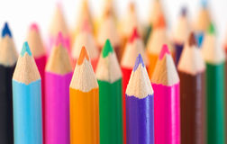 Divesity, sameness and colors. A world of diversity and sameness  - pencils with symbolic content Royalty Free Stock Image