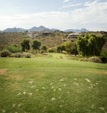 Divets on tee area of popular Arizona Course Stock Images