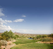 Divets on tee area of popular Arizona Course Stock Photography