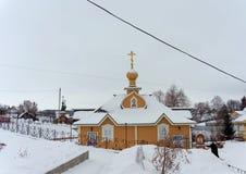Diveyevo,俄罗斯 - 12月25日 2016年 以纪念圣Panteleimon的来源 库存照片
