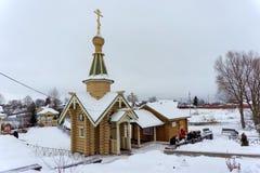 Diveyevo, Rosja - Grudzień 25 2016 Źródło na cześć Kazan ikonę matka bóg Zdjęcia Royalty Free