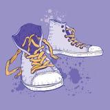 Diviértase los zapatos Zapatillas de deporte Foto de archivo libre de regalías
