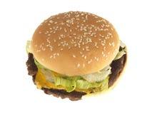 Divida il beefburger del mortaio fotografia stock