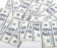 Divida il fondo in lotti dei contanti dei dollari degli americani delle FO, diversi soldi universalmente fotografia stock