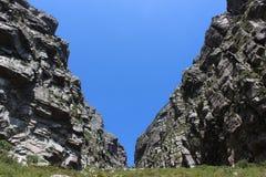 Divida la garganta en el parque nacional de la montaña de la tabla, viaje de Ciudad del Cabo Suráfrica Imagen de archivo