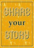 Divida la vostra illustrazione di vettore di progettazione del manifesto di storia illustrazione vettoriale