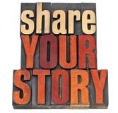 Divida la vostra tipografia di storia Fotografia Stock Libera da Diritti