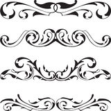 Divide victorian cool design elements set. On white Stock Photos