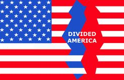 Free Divided America United States Of America Flag Showing The Political Divisiveness In This Country . Royalty Free Stock Photography - 159941127