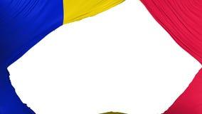 Divided Andorra flag. White background, 3d rendering stock illustration