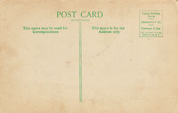 Divided Back Vintage Postcard Royalty Free Stock Photography