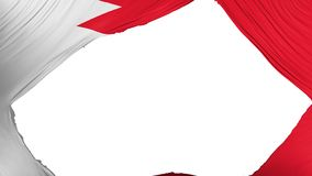 Divided Bahrain flag. White background, 3d rendering royalty free illustration