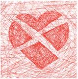Divided heart. Vector illustration of a broken heart Stock Photography
