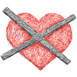 Divided heart Royalty Free Stock Photos