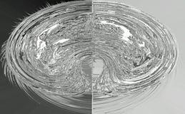 Divided metallic globule Royalty Free Stock Photography
