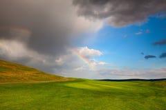 Divided rainbow Stock Photo