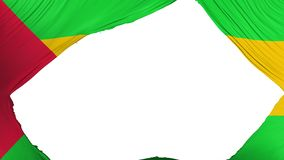 Divided Sao Tome and Principe flag. White background, 3d rendering stock illustration