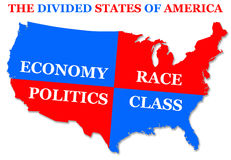 Divided states Royalty Free Stock Images