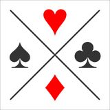 Divided suit. Card suit icon stock illustration