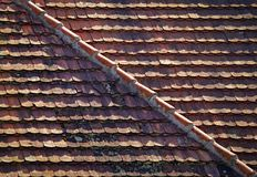 Divided tiled roof Royalty Free Stock Image