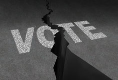 Divided Vote stock illustration
