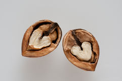 Divided walnut Royalty Free Stock Photos