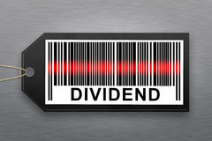 Dividend barcode Royalty Free Stock Photo