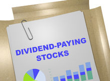 Dividend-Paying Stocks concept Stock Image