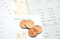 Dividend Per Share Royalty Free Stock Images