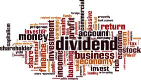 Free Dividend Word Cloud Stock Images - 160595234